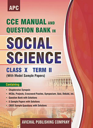 CCE Manual and Question Bank in Social Science Class- X (Term II)
