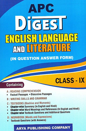 APC Digest English Language and Literature (In Question Answer Form) Class- IX