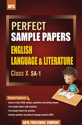 Perfect Sample Papers English Language & Literature Class X (SA-1)