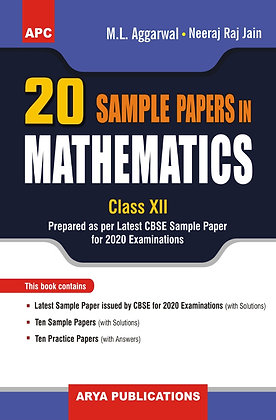 20 Sample papers in Mathematics Class- XII