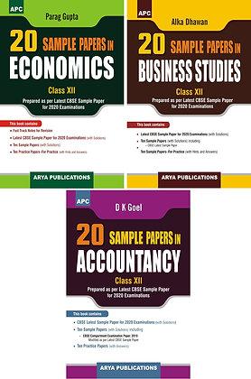 APC Economics, Business Studies And Accountancy CBSE 20 Sample Papers Class 12