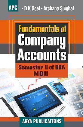 Fundamentals of Company Accounts Semester II of BBA (MDU)