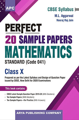 Perfect 20 Sample Papers Mathematics (Standard) Class-X
