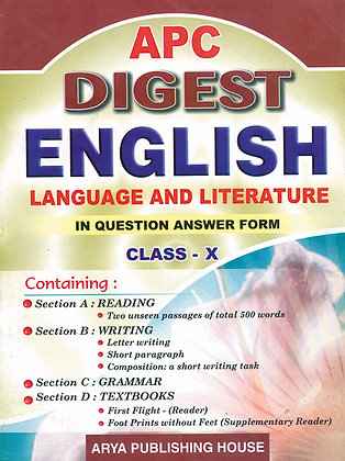 APC Digest English Language and Literature Class- X