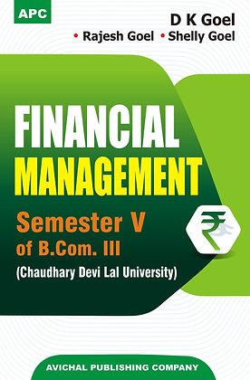 Financial Management Semester V of B.Co. III (C.D.L.U.)
