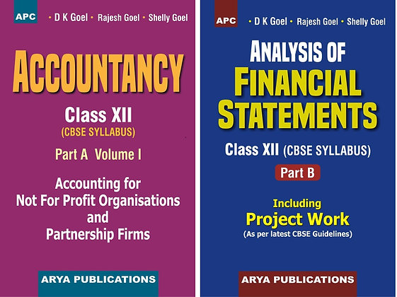 Accountancy Part A Vol1 & Analysis of Financial Statements Part B Class 12