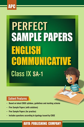 Perfect Sample Papers English Communicative Class IX (SA-1)