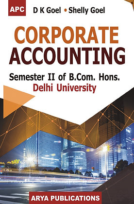 Corporate Accounting B.Com. Hons. Sem II, Delhi University