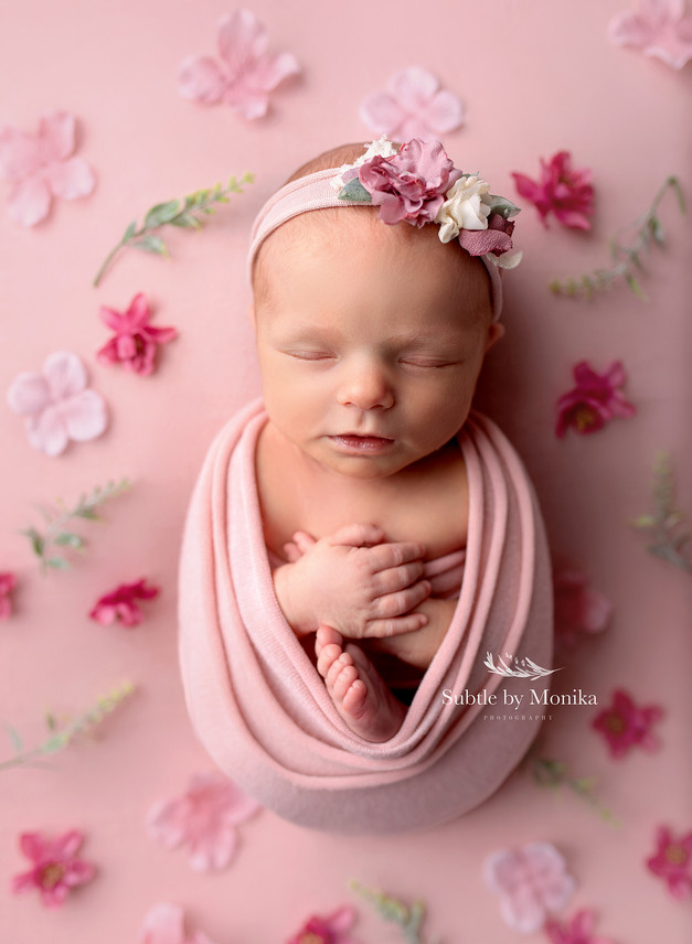 newborn girl photo session