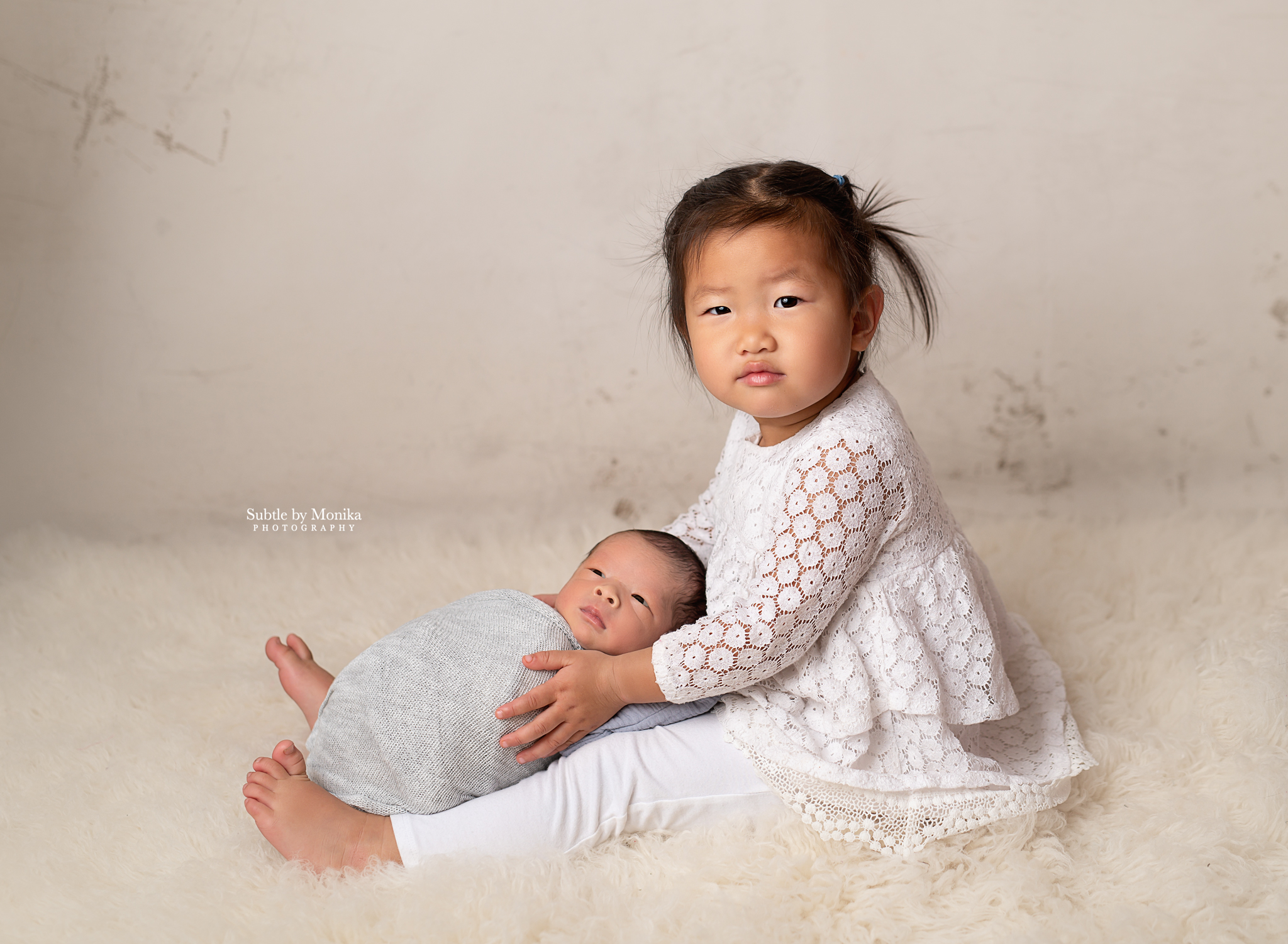newborn, siblings photo