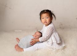 newborn, siblings photo