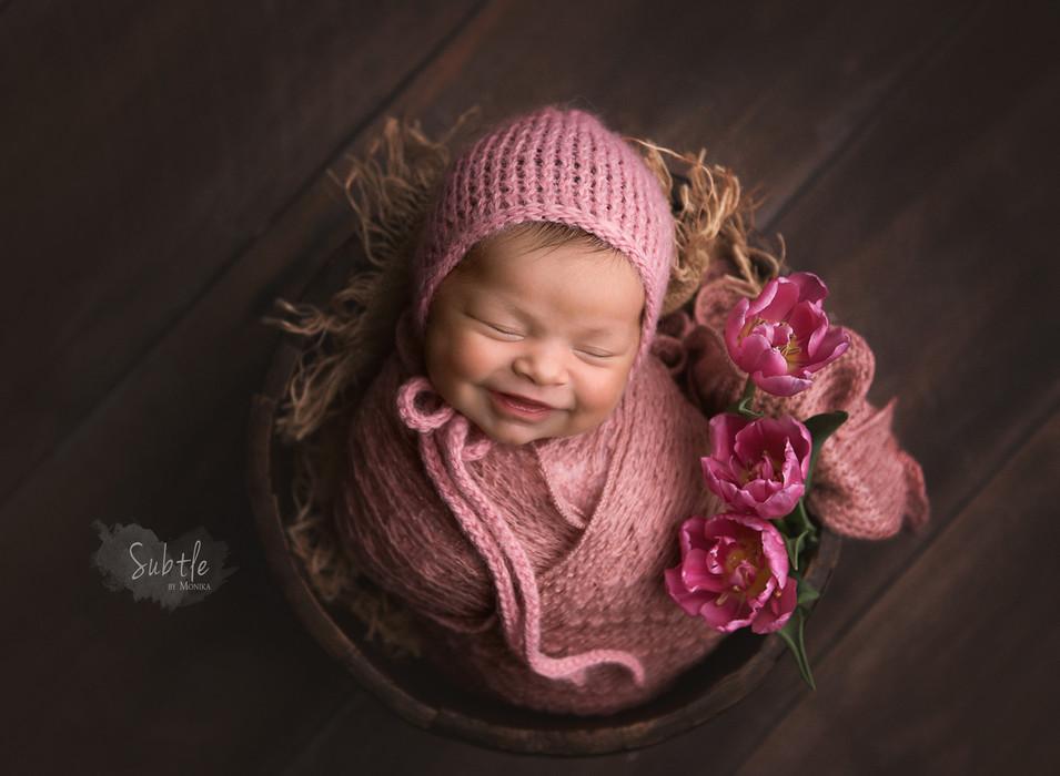 Newborn baby photo session