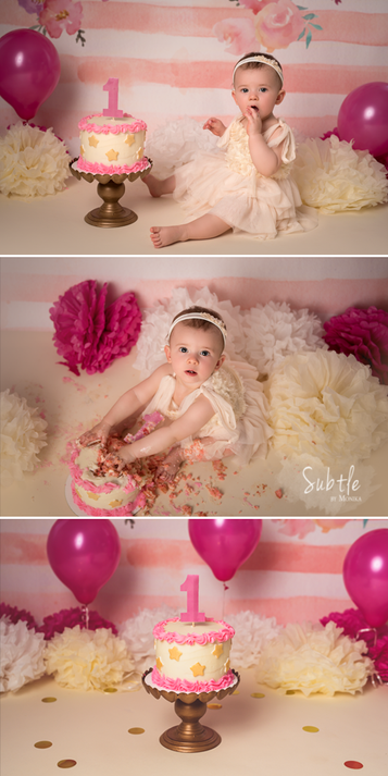 first b-day cake smash photo session