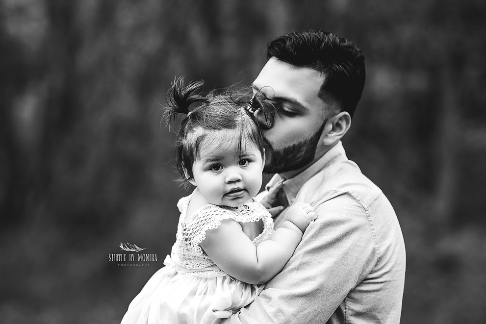 family photo session father and daughter