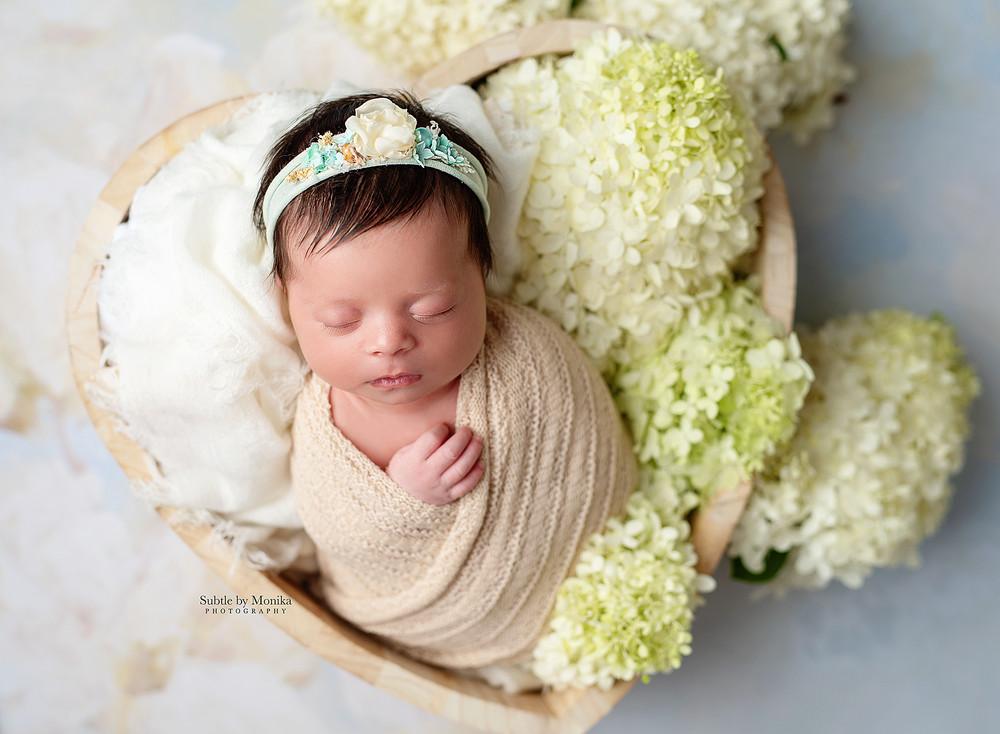 newborn session girl