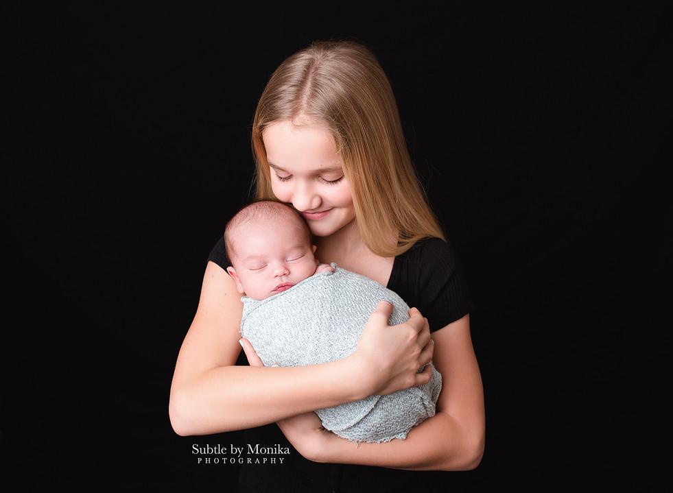 newborn session girl sisters