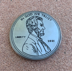 Abraham Lincoln Penny Ball Marker