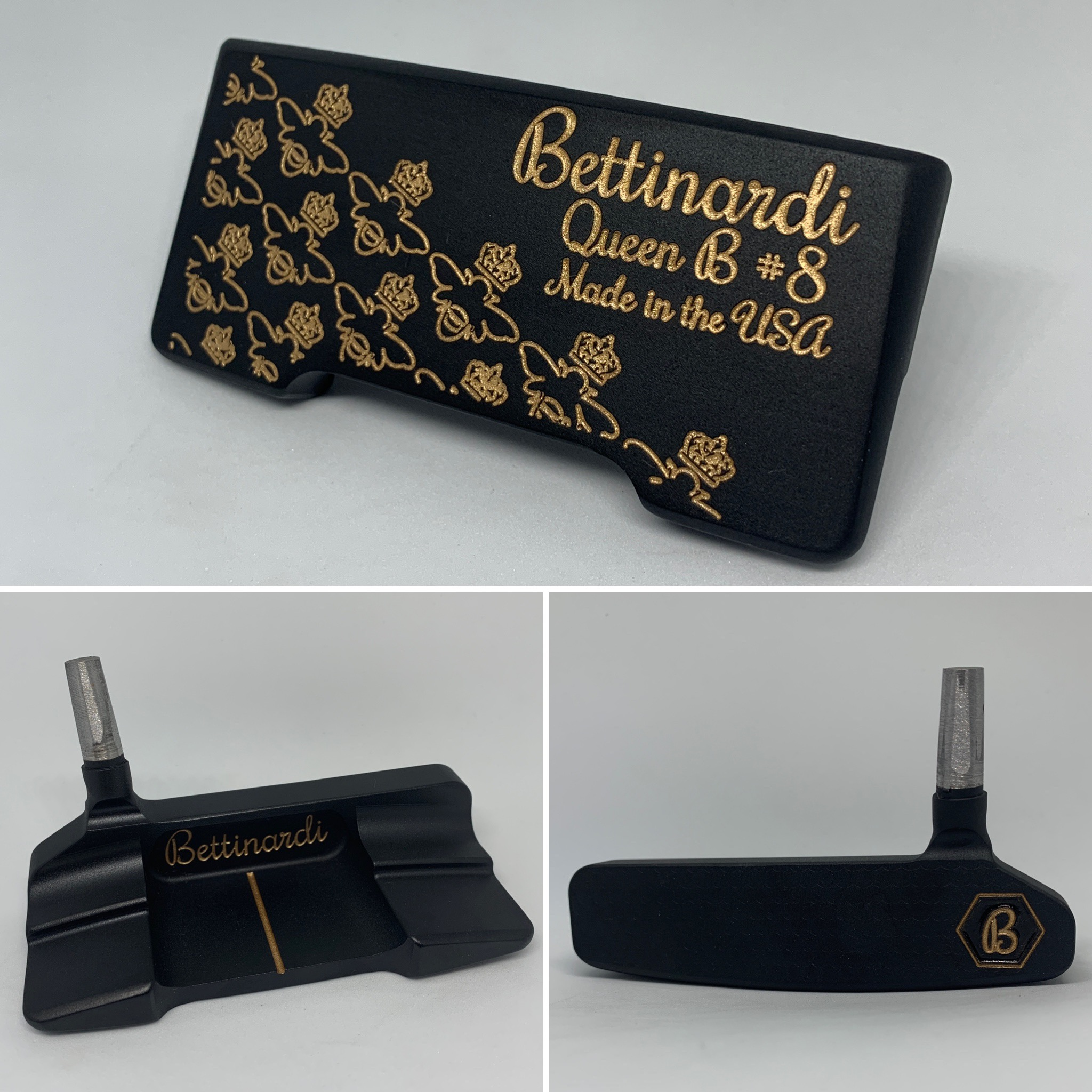 Black Polymer with Gold Paint Fill