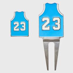 Michael Jordan 23 Carolina Ball Marker & Divot Tool
