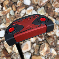 Black Shadow PVD with Red Anodised Sole/Face insert