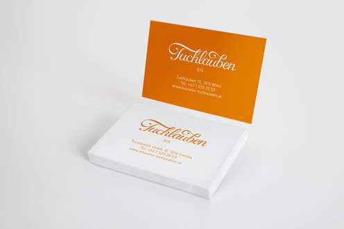 Business cards for Tuchlauben Eis
