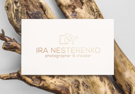 Logotype for photographer and traveler