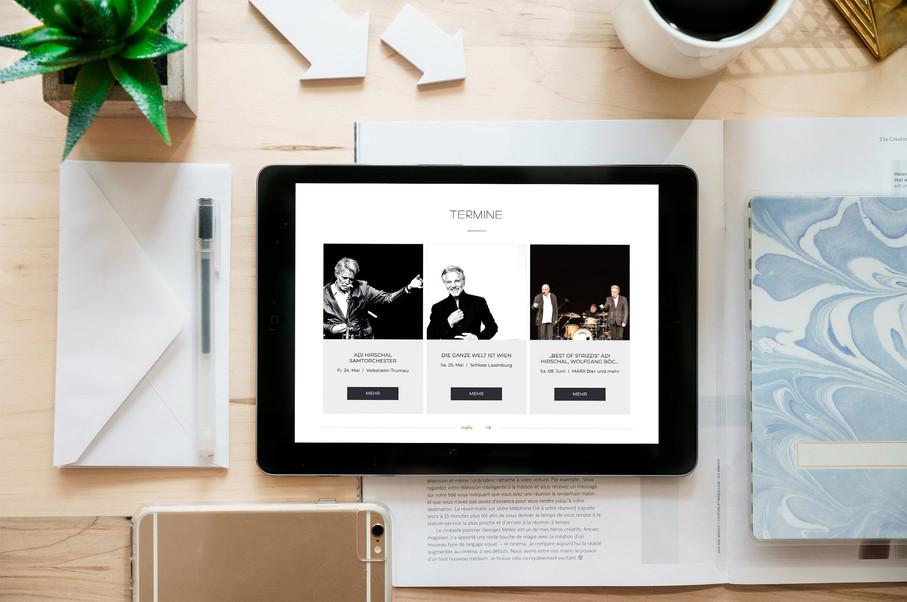Webdesign for Adi Hirschal