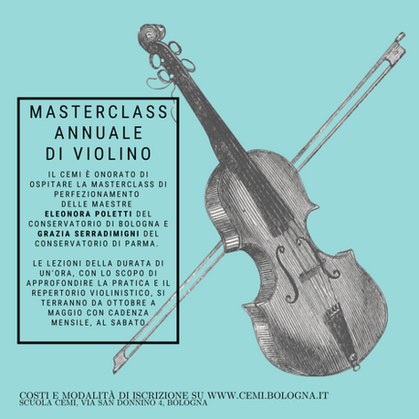 Masterclass annuale di violino con le Maestre Poletti e Serradimigni