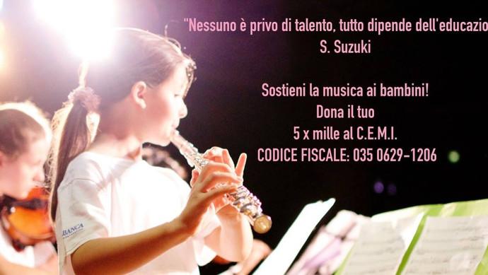 Sostieni La Musica Ai Bambini! Dona Il Tuo 5x1000!