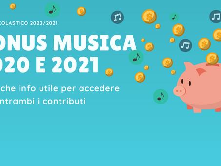 Bonus musica 2020 e 2021: che differenza c'è?