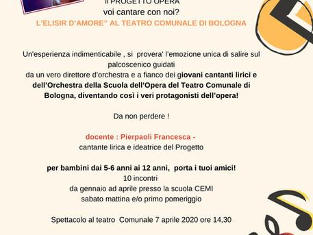 Progetto Opera: conoscere la lirica e cantarla al Comunale!