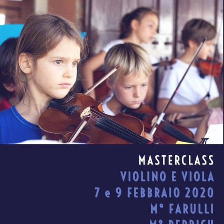 Masterclass di viola e violino coi Maestri Perpich e Farulli