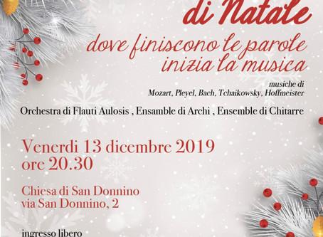 Venerdì 13 dicembre, piccolo concerto di Natale