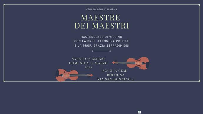 Masterclass di violino con prof. Eleonora Poletti e prof. Grazia Serradimigni