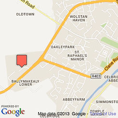 Google Map of Springfield Bed and Breakfast, in Celbridge, Co. Kildare.
