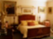 The Guest Room - Ensuite bedroom with an antique fireplace | Springfield Bed and Breakfast