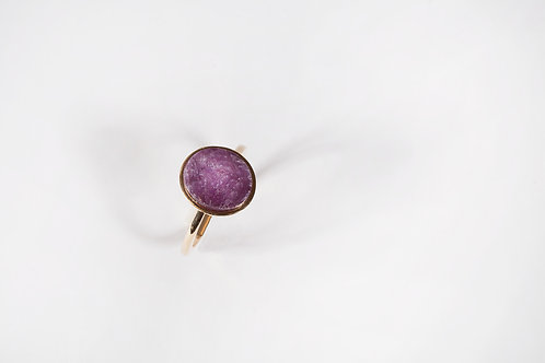 Golden Ring with Star Ruby