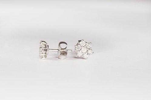 Hexagonal Diamond Earrings