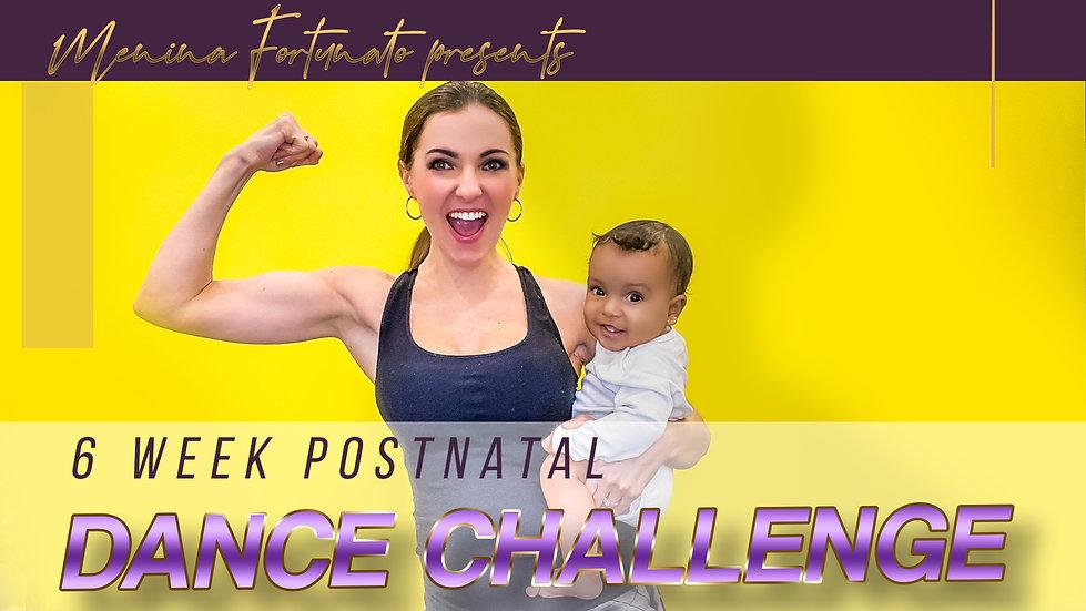 6 week postnatal dance challenge header