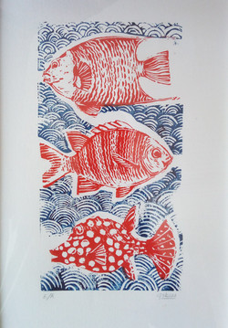 3 POISSONS ROUGES
