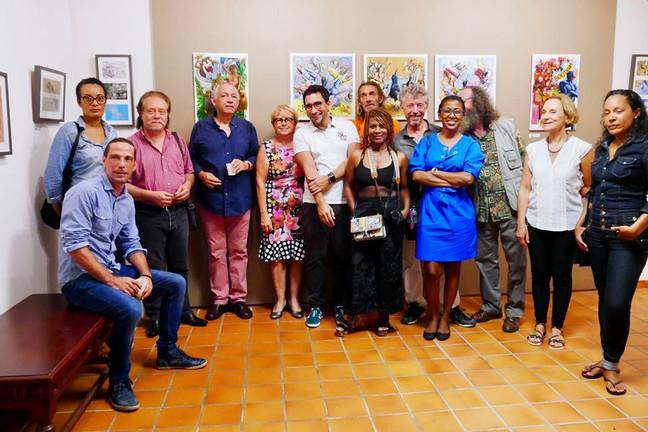 Photo des artistes présents