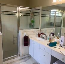 Before Master bathroom