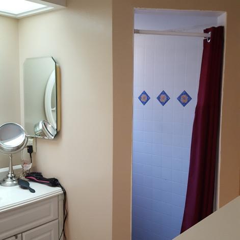 Bathroom before shower