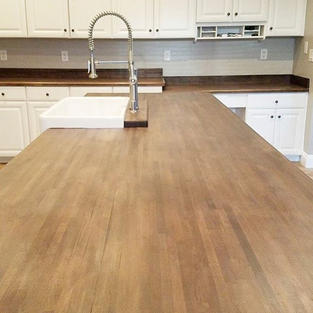Going back to these butcher block tops m