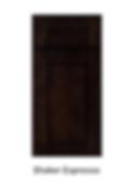Espresso brown shaker cabinet