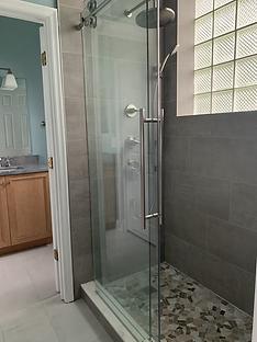 Shower Remodel Grey Modern