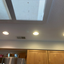 Before photo of skylight in kitchen