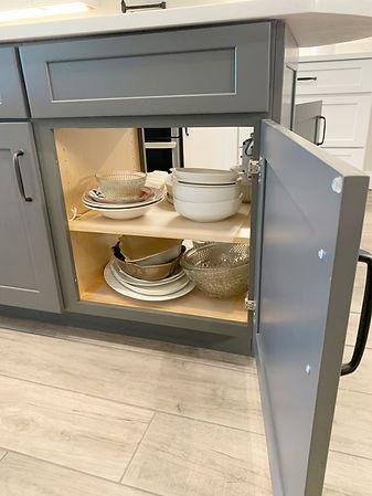 Kitchen island double access