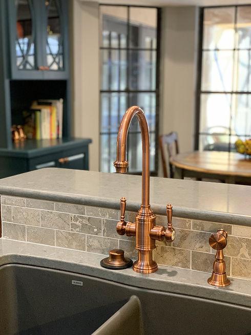 Brass faucet in kitchen remodel Apopka