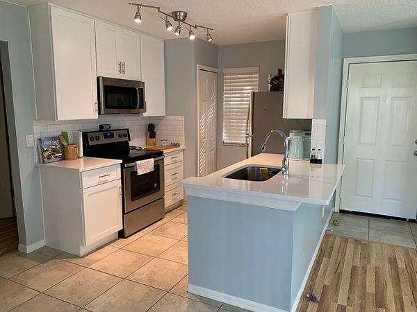 Transformed small townhome kitchen to updated bright space